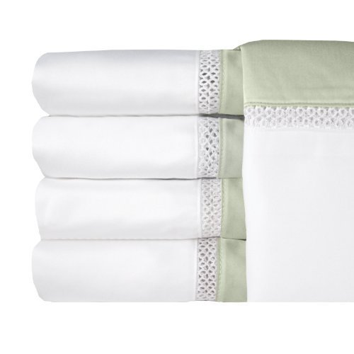 MADE IN THE USA Duet 300TC 100% Cotton Sateen Sheet Set, Full, Sage By Veratex by Veratex, Inc. by Veratex