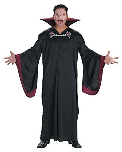 Evil Classic Vampire Mens Costume Dead Haunting Haunt Black Robe Sizes: One -