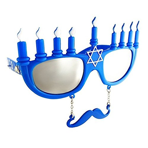 Costume Sunglasses Menorah Sun-Staches Party Favors UV400 ()