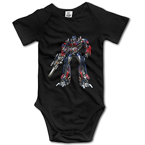 Kids Optimus Prime Transformer Baby Bodysuits Jumpsuit Unisex Boys Girls 100% Cotton 12 Months Black