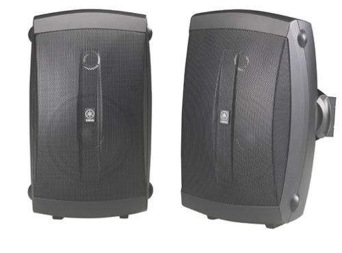 - Wired Yamaha NS-AW150BL 2-Way Indoor//Outdoor Speakers Pair, Black Renewed