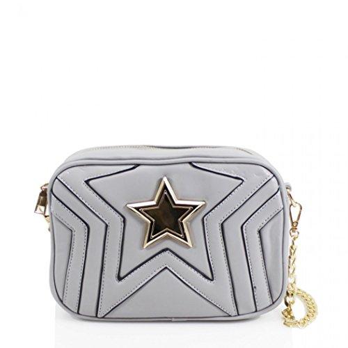 Women's 17 Bags Body Cross Shoulder Star Chain Bag Handbags Grey LeahWard O6SwdO