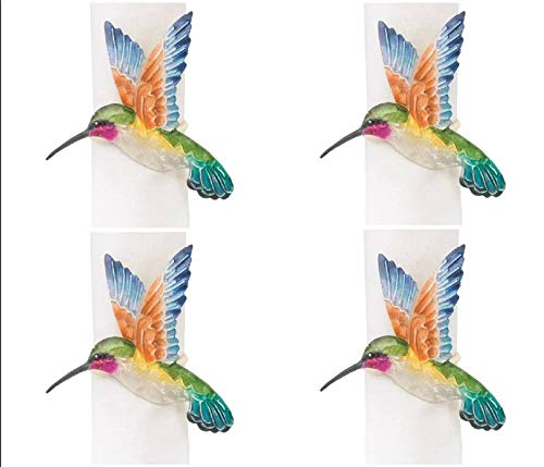 - CFF Hummingbirds Shaped Kitchen or Dining Room Napkin Rings Set of 4
