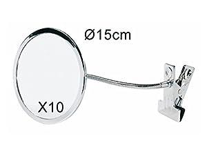 Flexible Gooseneck 10x Magnifying Mirror With Attachment