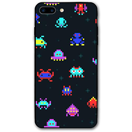 iPhone 7 Plus Case, iPhone 8 Plus Case, Cute Pixel Robots 5.5 Inch Ultra Thin Fashion Phone Case, Environmentally Friendly PC Materials Effectively Protect Your Phone ()