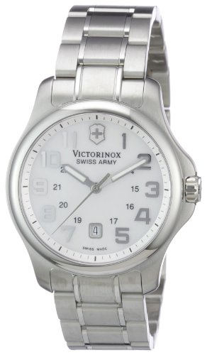 Victorinox Women's 241365 Officer's Analog Display Swiss Quartz Silver Watch