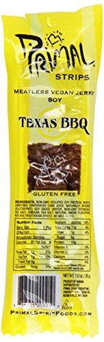 Primal Spirit Foods Meatless Jerky Strips Texas BBQ -- 1 oz