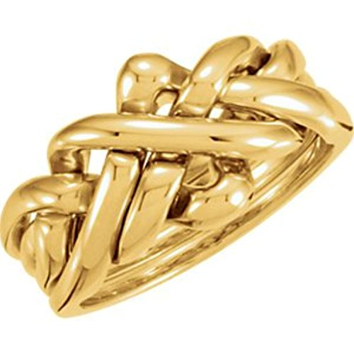 14K Yellow Gold Puzzle Ring, Size: 10 14k Yellow Gold Puzzle Ring
