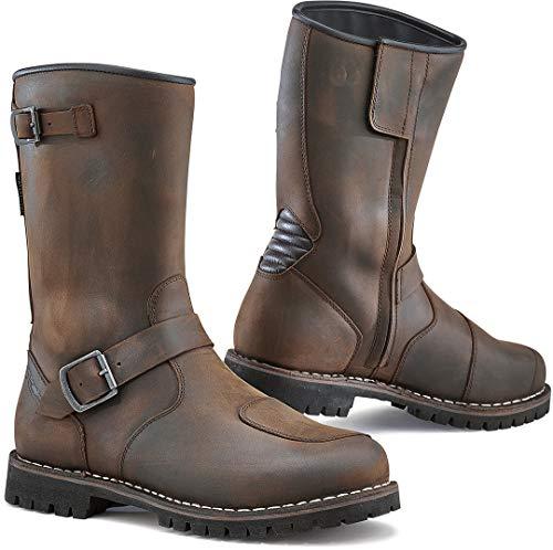 TCX 7096 Fuel Waterproof Mens Street Motorcycle Boots - Vintage Brown Size Eu 44 / Us 10