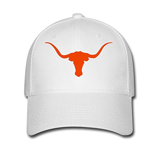 Woman Men Cotton Texas Longhorns Adjustable hats Baseball caps White 2536ca35fadf