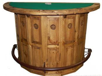Wonderful Rustic Half Poker Table Bar With Star