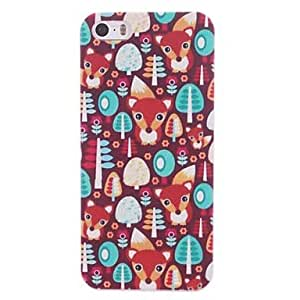 Mini - Little Red Mouse Design Coloured Drawing Pattern PC Hard Case for iPhone 5/5S