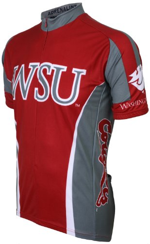 Adrenaline Promotions NCAA Washington State University Cougers - WSU Cycling Jersey