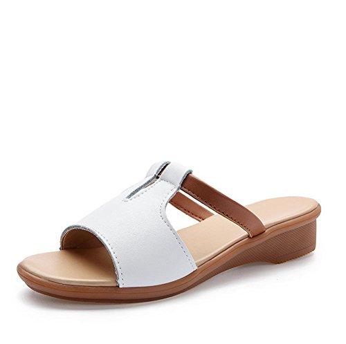 Zapatos Tamaño La 3 Deslizadores Señoras De Gran Frescos Forman Los Playa Del Verano gzn0q