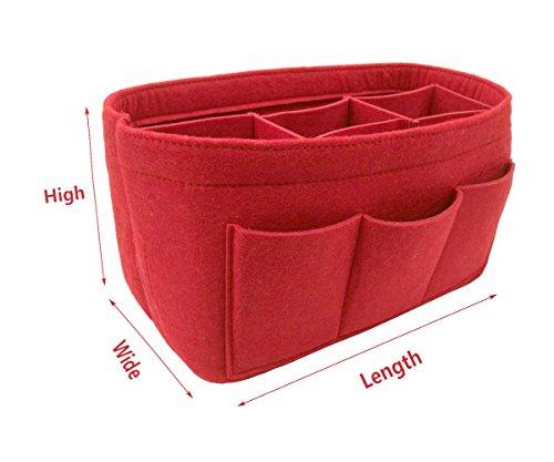 LEXSION Felt Handbag Organizer,Insert purse organizer Fits Speedy Neverfull Red M by LEXSION (Image #2)