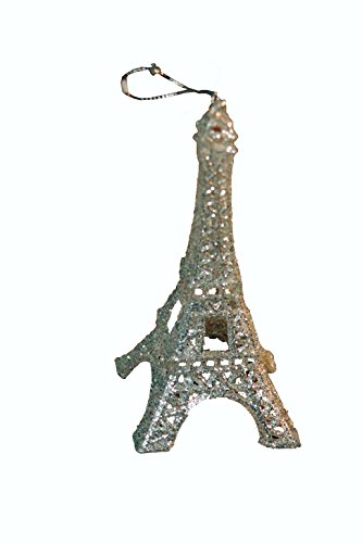 Price comparison product image Silver Eiffel Tower Paris Christmas Tree Ornament Holiday Glitter Cake Topper