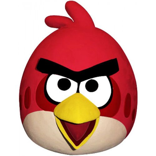 Paper Magic Angry Birds Mask, Red, One -
