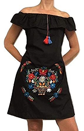 4a0776e1207aa Image Unavailable. Image not available for. Color  DiscoverMas Women s Mexican  Dress