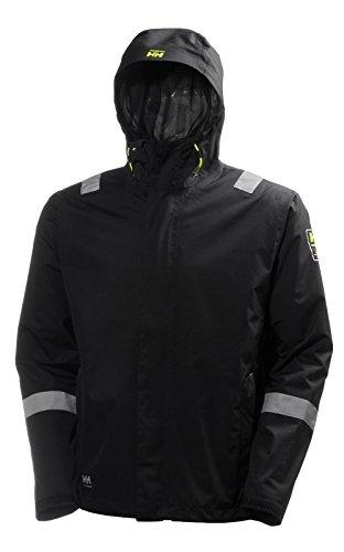 Helly Hansen Work Wear Men's Aker Winter Shell Reflective Jacket, Black, Large (Helly Hansen Winter Coat Men)