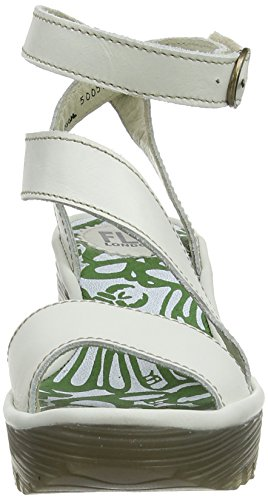 Fly London P500526004, Sandalias de Cuñas Mujer - Off White (Off White)