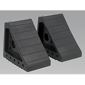 Sealey WC01 Rubber Wheel Chocks 1.8kg - Pair