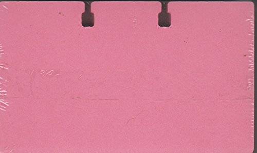 Rolodex C35 3x5-inch PINK cards. Pack of 100. Fits all 3'' x 5'' files. Unlined. Authentic and original.