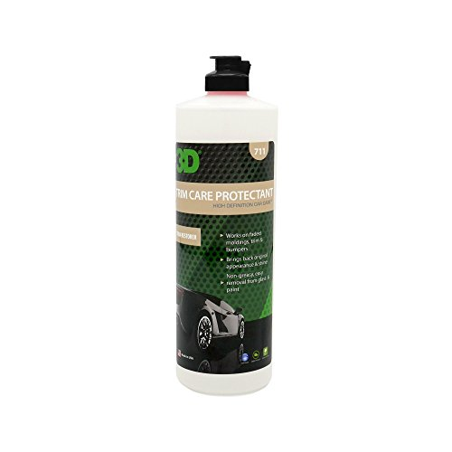 3D Auto Detailing Products 3D Trim Care Protectant - 16 oz. | Restores Faded Moldings, Trim & Bumpers to Original Appearance & Shine | Easy to Apply | Made in USA | All Natural | No Harmful Chemicals