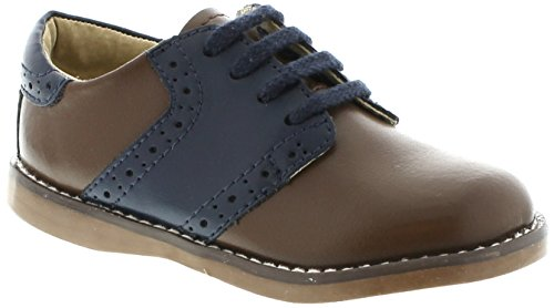 Boys Saddle Shoes (FOOTMATES Boy's Connor Saddle Taffy/Royal - 8468/13 Little Kid)