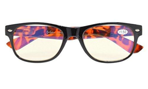 Reduces Eyestrain,Anti Blue Rays,UV Protection Computer Reading Glasses Mens Womens