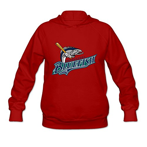Cheap price Ninva Red Bridgeport Bluefish Woman Casual Hoodies Size -Large