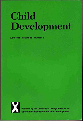 Child Development, April 1988 (Bi-monthly academic journal of Society for Research in Child Development, SPECIAL ISSUE, EARLY ADOLESCENCE, VOL. 59)