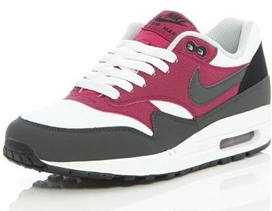 finest selection 2a878 50baa NIKE Air Max 1 Essential Weiß Lila Grau Leder Herren Trainer Schuhe Boots