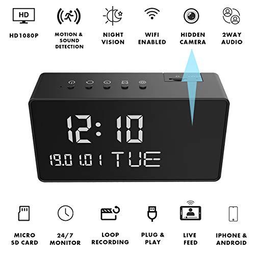 🥇 Cruci5 Mini Camera Clock Spy Cam with 1080P Full HD
