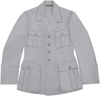 militaryharbor WW2 - Túnica de algodón para hombre, color blanco