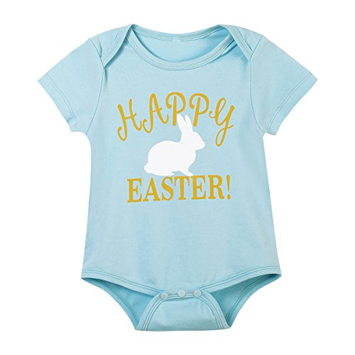 1f453b4c2316 iCrazy Happy Easter Outfit Set Baby Boys' Cute Bunny Creeper Romper Pants  With Hat