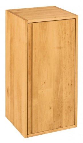 BioKinder 22189 Laura Regalwürfel Regalelement hoch mit Tür aus Massivholz Erle 80 x 40 cm