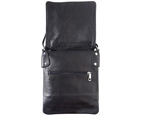 Shoulder Soft Italian II Leather LaGaksta Bag Crossbody Black Ashley tXqcwC