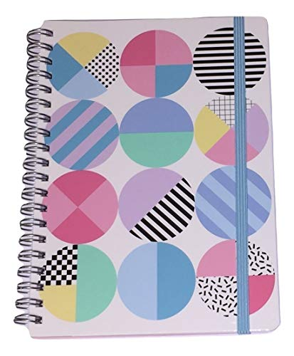 Carolina Pad Studio C College Ruled Poly Cover Spiral Notebook with Elastic Closure, Pattern Play (Patterned Polka Dots, 5 Inches x 7 Inches, 80 Sheets, 160 Pages)