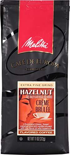 (Melitta Café de Europa Gourmet Coffee, Hazelnut Crème Brulee Ground,Flavored, 11-Ounce (Pack of 3))