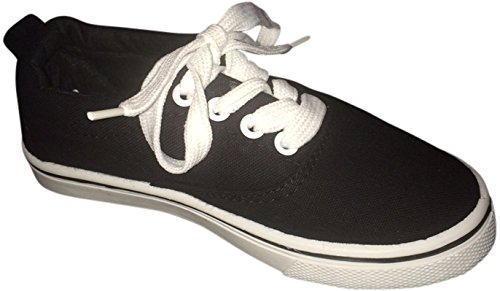 EpicStep Touch Me Tie up Slip on Sneakers (9, Black/White) by EpicStep