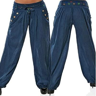 Feytuo Pantalones de Yoga Mujer,Pantalones de Yoga Algodón ...