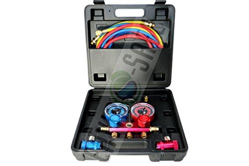 Enviro-Safe R1234YF Gauge Set and Vacuum Pump Adapter 3105 by Enviro-Safe