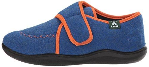 Kamik Boys' Cozylodge Slipper, Blue/Orange, 5 Medium US Toddler - Image 5