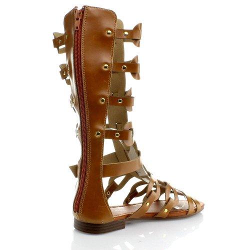 Sandalias De Gladiador Gladiator Anna Para Mujer, Bronceado