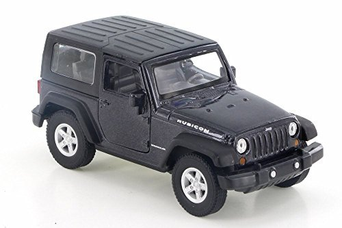 Welly Jeep Wrangler Rubicon, Black 42371H-D - 4.5 Diecast Model Toy Car but NO BOX