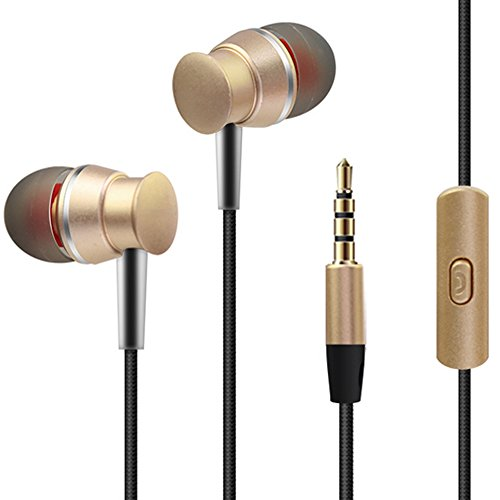 KOBWA Wired Metal In Ear Headphones with Mic,Stere...