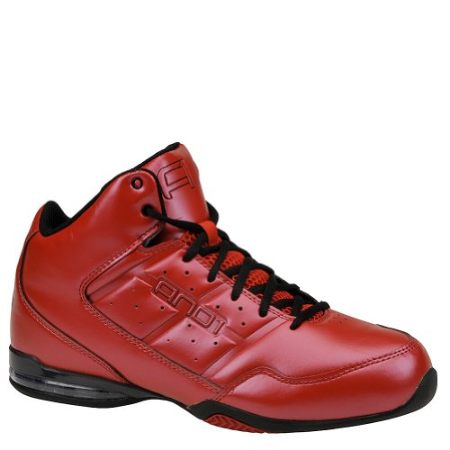And Rocket   Mid Basketball Shoes White Black Varsity Red