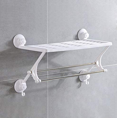 XUEER Stainless Steel Towel Rack,Double Layer Suction Cup Band Hook,Creative Fashion Punch Free,Wall-Mounted Suitable for Hotel/Bathroom Towel Rack