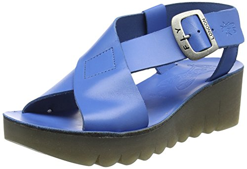 Fly London Women's YILD880FLY Wedge Sandals Blue (Smurf Blue 003) sni1n0