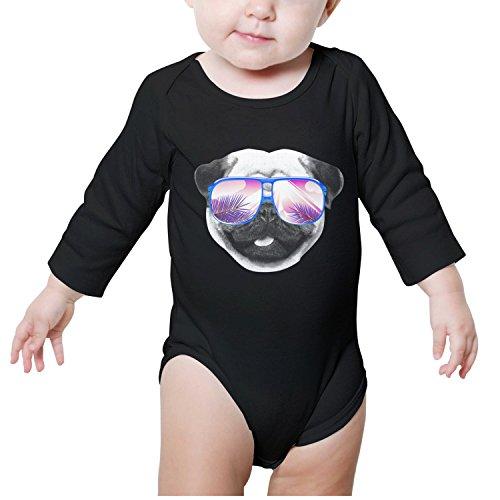 Xanx Smon Baby Onesies Bodysuit Dog Palm Tree Organic Clothes